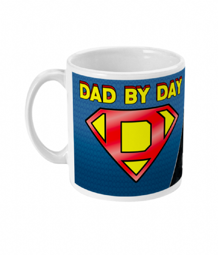 Dad by Day Gamer by Night Geeky Fathers Gift Ceramic Mug